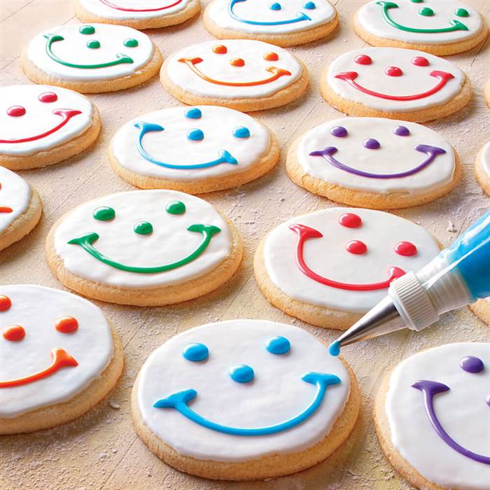 Pies and Smiley Cookies