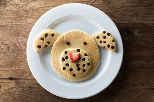 Chocolate Chip Puppy Dog Griddlecakes