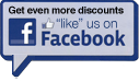"Get even more discounts. ""like"" us on Facebook."